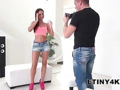 Brunette recording movie