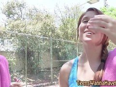 Real teen jizzed outdoors