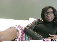 Tiny black teen spunk