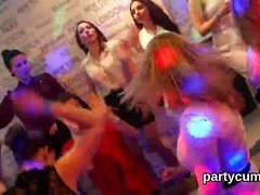 Unusual girls get totally insane and stripped at hardcore party