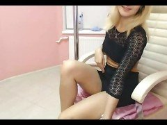 19yo blonde masturbating on cam 1