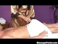 Cutie Kimmy Kay Gives her Boss a Massage