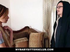 MyBabySittersClub - Skinny Baby Sitter Caught Making Out With Her BF