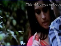 Desi college girl seducing young boy in park saree strip with telugu audio