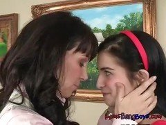 Stepmom Rayveness Luridly Alluring In Her Coaching Of Teen Zoe Kush