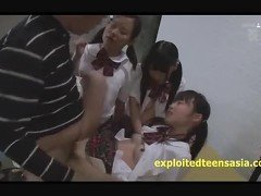 Jav Teen Schoolgirls Suck & Fuck There Teacher Shaved Vaginas