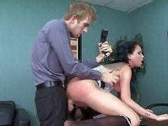 Hardcore penetration of a big-breasted young secretary