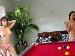 The hottest slender teens are playing in pool