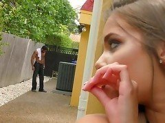 Amazing interracial blowjob by an innocent young babe
