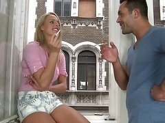 Sensual blonde milf hardly drilled in her snatch